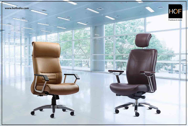 HOF Ergonomic Executive Office chair-waterfall-design