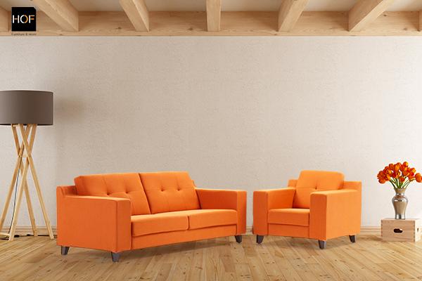 Pastel Fabric Sofa