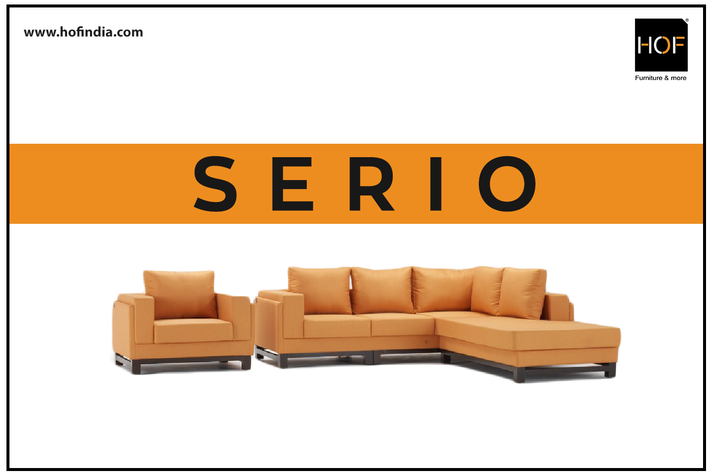 HOF Sectional Fabric Sofa - SERIO