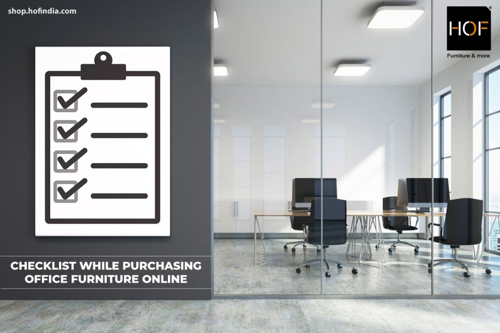 Checklist While Purchasing Office Furniture Online