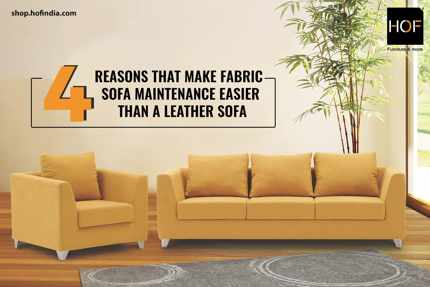 4 reasons that make fabric sofa maintenance easier than a leather sofa