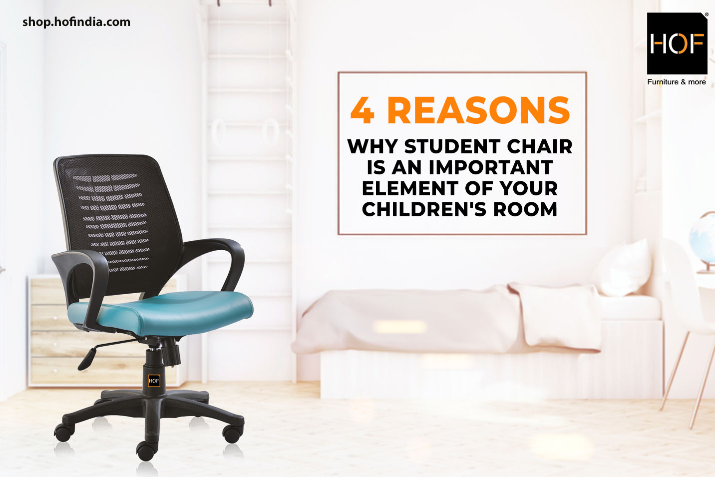 4 reasons why student chair is an important element of your children's room