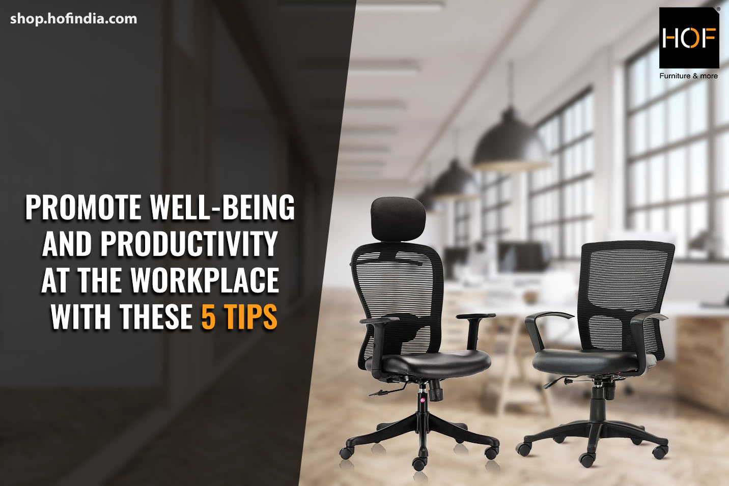 Promote well-being and productivity at the workplace with these 5 tips